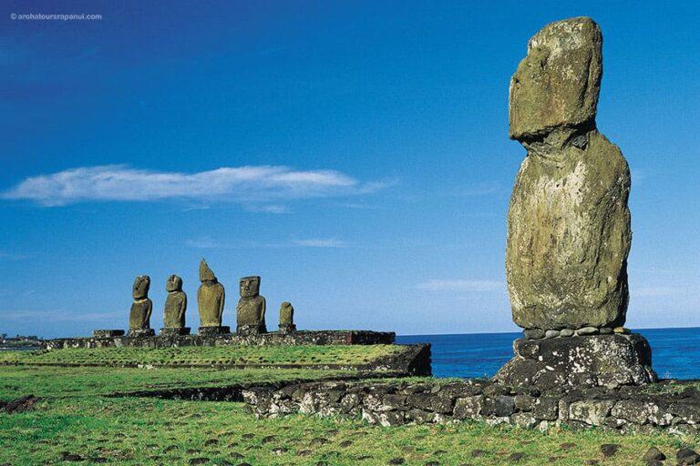 Le complexe archeologique restaure de Tahai - Ile de Paques