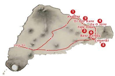 La carte de la visite classique - Aroha Tours Rapa Nui