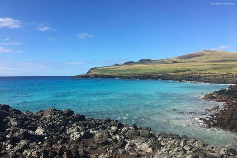 Le bleu de la mer et du ciel - Poike - Rapa Nui