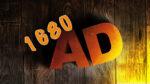 Lettres AD et chiffres 1680 sur support en bois