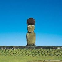 Moai solitaire et complet - Tahai - Aroha Tours Rapa Nui