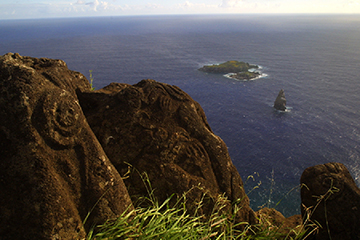 Petroglyphes - Homme-Oiseau - Orongo - Ile de Paques