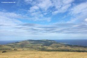 Vue panoramique de Rapa Nui depuis Terevaka - Sommet ile de Paques